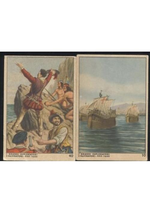 2 figurine Caramelle Alba i grandi esploratori i navigatori Colombo Vasco Nunes
