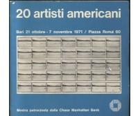 20 ARTISTI AMERICANI Bari 21 ottobre 7 novembre 1971