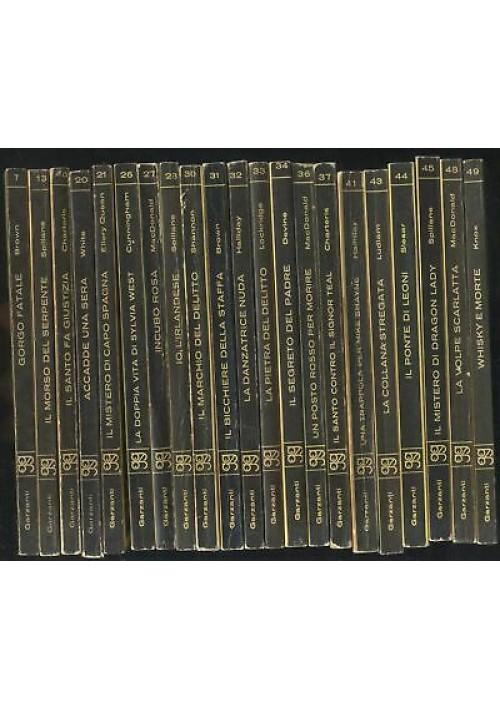 21 GIALLI GARZANTI dal n. 7 del 1964 al 49 del 1966 lista nella descrizione