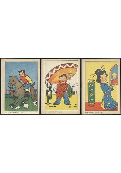3 ALBI DA COLORARE IL BRAVO PITTORE NUMERI 5 6 e 7  editrice Piccoli anni '50