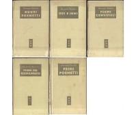 5 volumi di Giovanni Pascoli BMM Mondadori 1951 1955 poemetti odi inni poemi