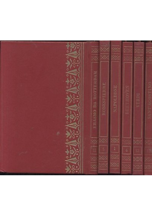 6 volumi I GRANDI DI TUTTI I TEMPI - MONDADORI S.Agostino Verdi Erasmo Beethoven