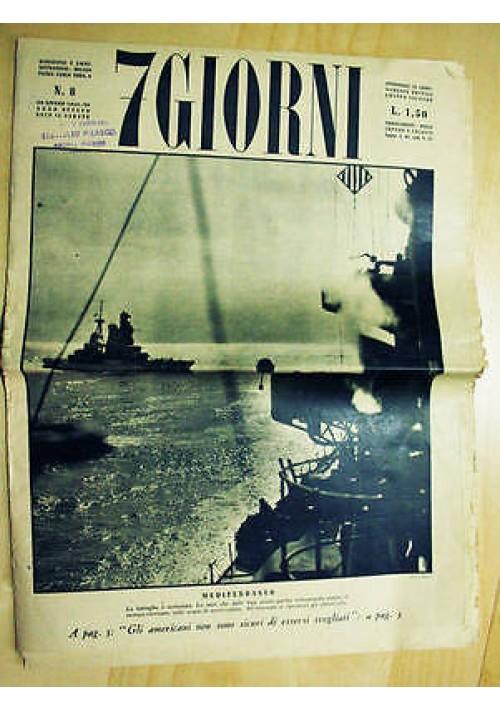 7 giorni - anno VIII n. 8 del 20 giugno 1942 militaria II guerra mondiale