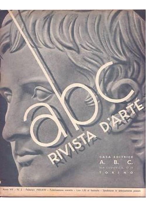 ABC  Rivista d'arte  anno VIII n.2 febbraio 1939 - Mercedes Tomaselli Dezso Fày