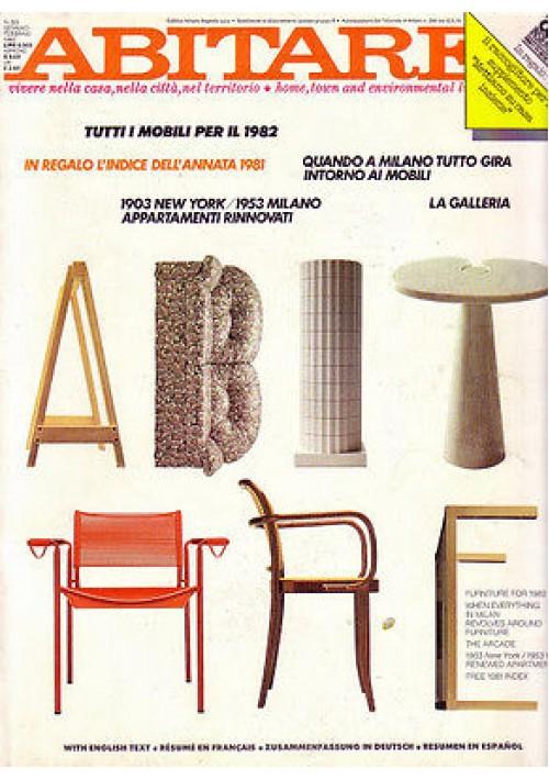 ABITARE n. 201 gennaio febbraio 1982 tutti i mobili per il 1982