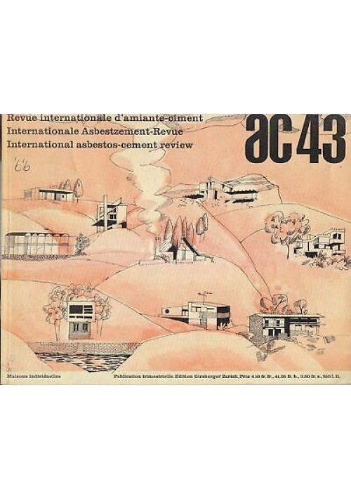 AC n. 43 luglio 1966 revue internationale d'amiante ciment  architettura