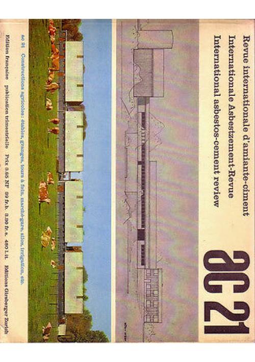 AC n.21 gennaio 1961 REVUE INTERNATIONALE D'AMIANTE CIMENT testo in 3 lingue