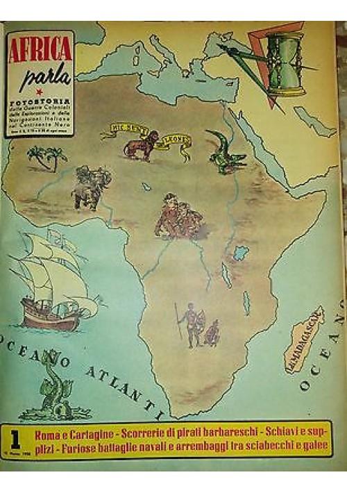 AFRICA PARLA 16 fascicoli rilegati Fotostoria guerre coloniali 1968 GESP