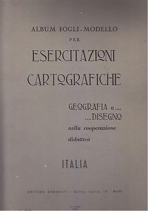 ALBUM FOGLI MODELLO PER ESERCITAZIONI CARTOGRAFICHE M e N Colucci 1964 Cressati