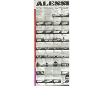 ALESSI design depliant pubblicitario TUTTI I PROGRAMMI ALL PROGRAMS anni '70