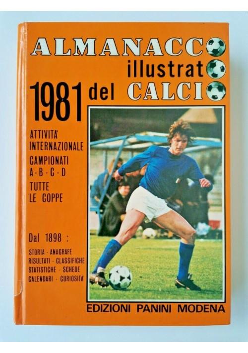 ALMANACCO ILLUSTRATO DEL CALCIO 1981 edizioni Panini libro manuale