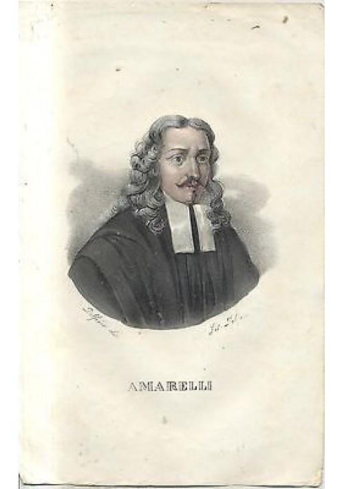 AMARELLI splendida litografia DOLFINO acquerellata metà 800 ORIGINALE