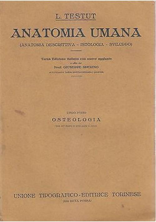ANATOMIA UMANA di L. Testut COMPLETO 11 volumi 1923 UTET medicina osteologia