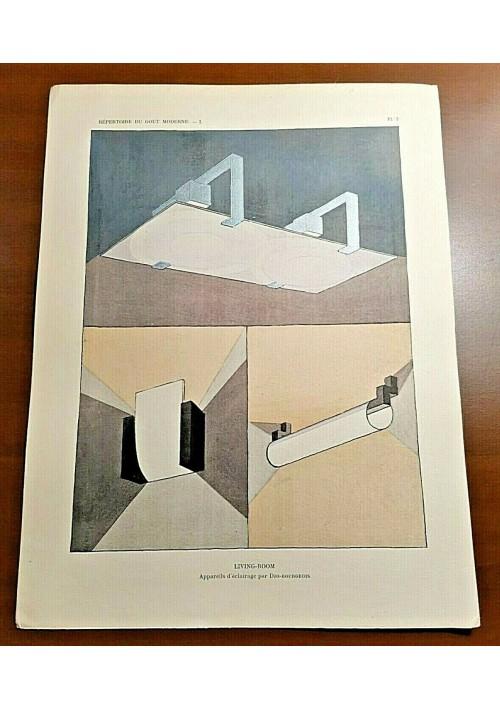 APPAREILS d'eclaraige par Djo Bourgeois Stampa Art Deco 1929 POCHOIR Vintage
