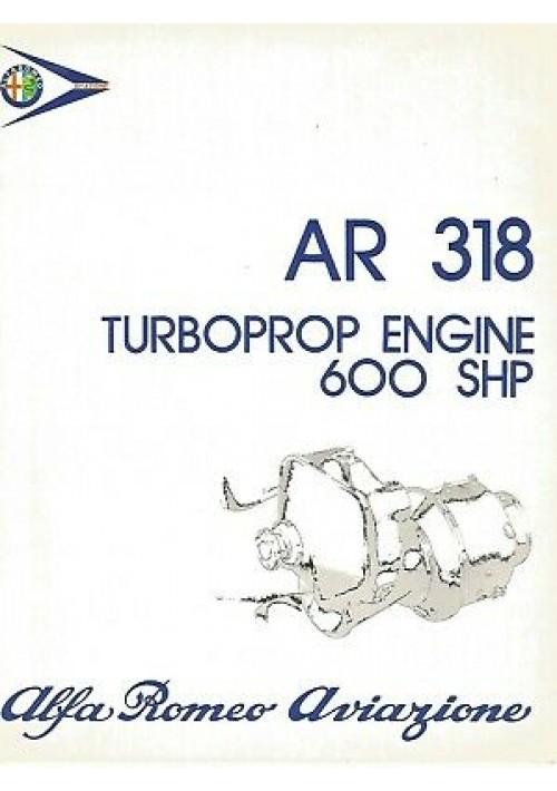 AR 318 TURBOPROP ENGINE 600 SHP Alfa Romeo Aviazione