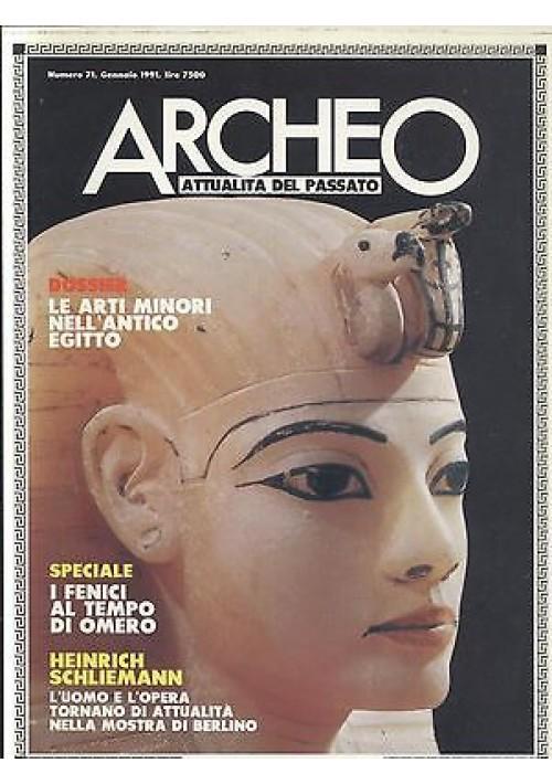 ARCHEO 1991 annata completa 12 num + cofanetto musei Italia De Agostini Rizzoli