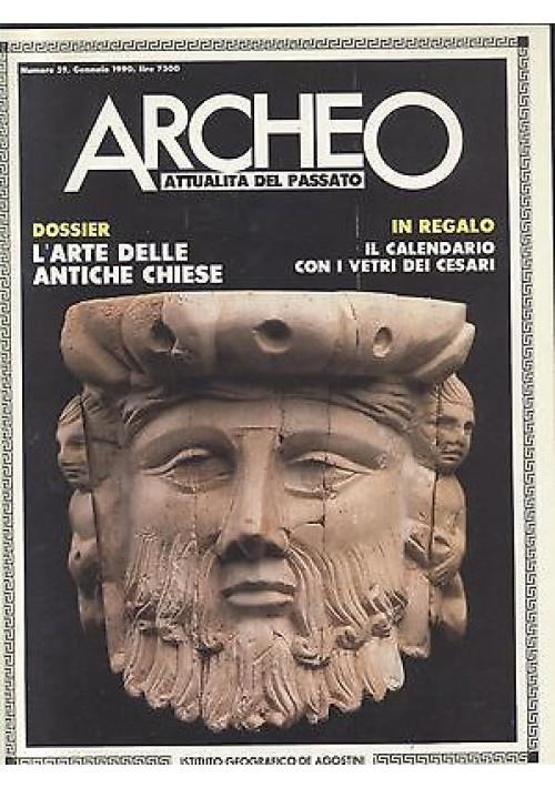 ARCHEO attualità del passato 1990 annata completa 12 numeri De Agostini Rizzoli