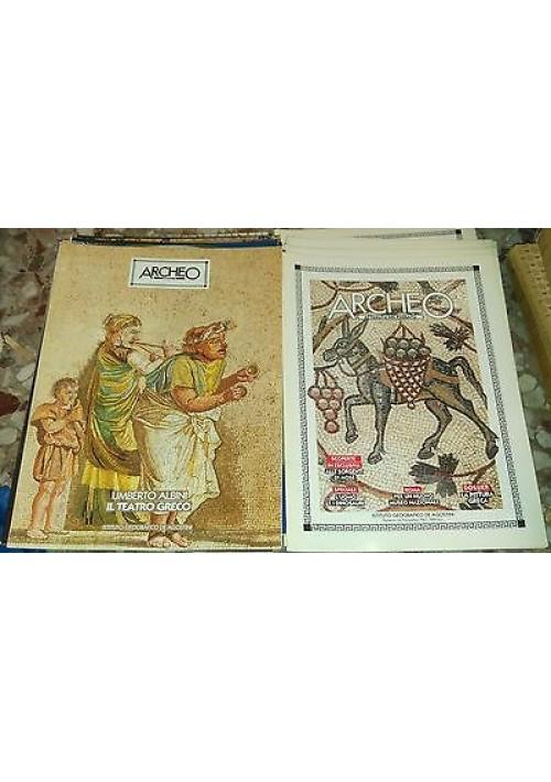 ARCHEO attualità passato 1987 annata completa 12 numeri + 12 dossier De Agostini