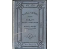 ARCHITETTURA ITALIANA vol.I Alfredo Melani 1884 Hoepli I ed. pelasgica etrusca *