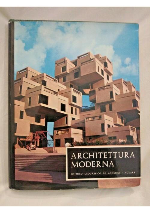 ARCHITETTURA MODERNA di Hofmann Kultermann 1969 De Agostini arte libro sulla