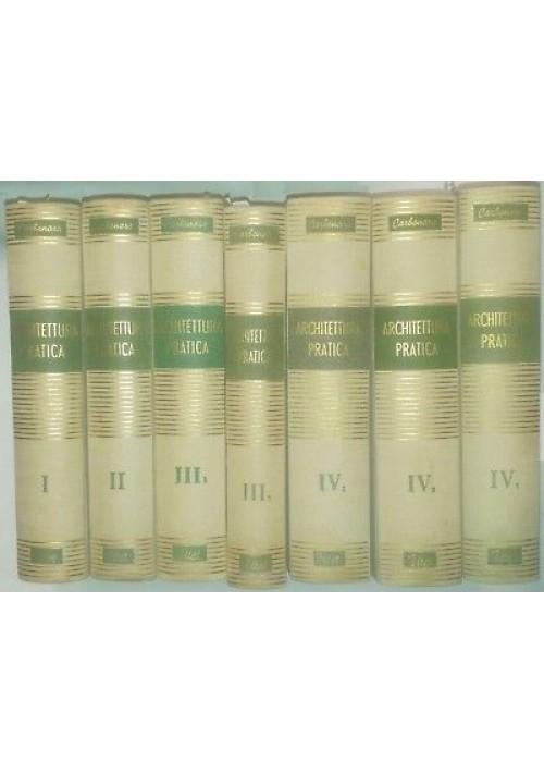 ARCHITETTURA PRATICA Pasquale Carbonara 7 tomi 4 volumi 1954 1970 UTET