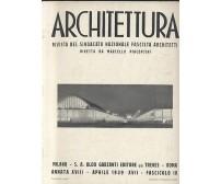 ARCHITETTURA rivista sindacato fascista architetti - aprile 1939 anno 18 fasc.4