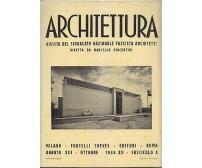 ARCHITETTURA rivista sindacato  fascista architetti - ottobre 1934 A. XII n. X