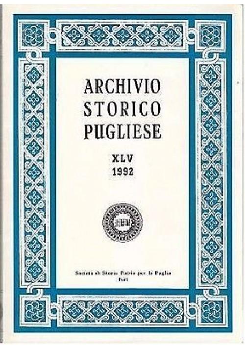ARCHIVIO STORICO PUGLIESE  ANNO XLV fasc 1 – 4