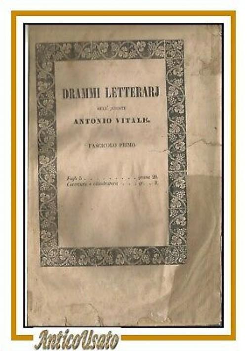 ARIOSTO CAPITATO TRA I BRIGANTI dell'abate Antonio Vitale 1846 libro drammi