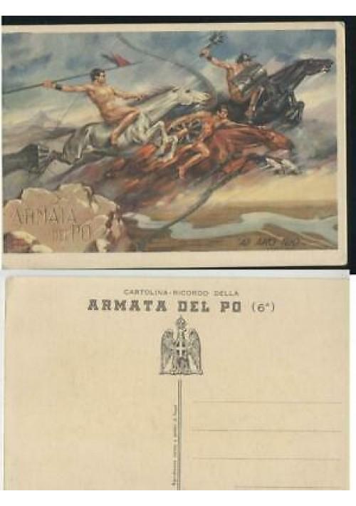 ARMATA DEL PO cartolina non viaggiata ILLUSTRATA carte postale postcard
