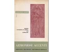 ARMONIOSI ACCENTI nozioni stilistica metrica letteratura Domenico Magri 1968 *