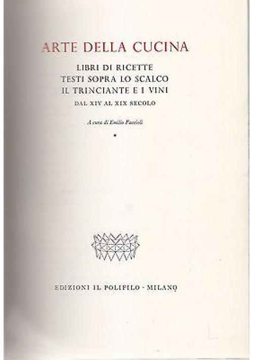 ARTE DELLA CUCINA 2 Volumi a cura di Emilio Faccioli 1966 Polifilo editore