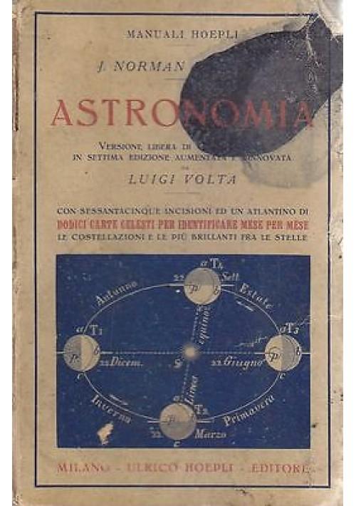 ASTRONOMIA di I. Norman Lockyer 1925 Hoepli Manuali 12 carte celesti e immagini