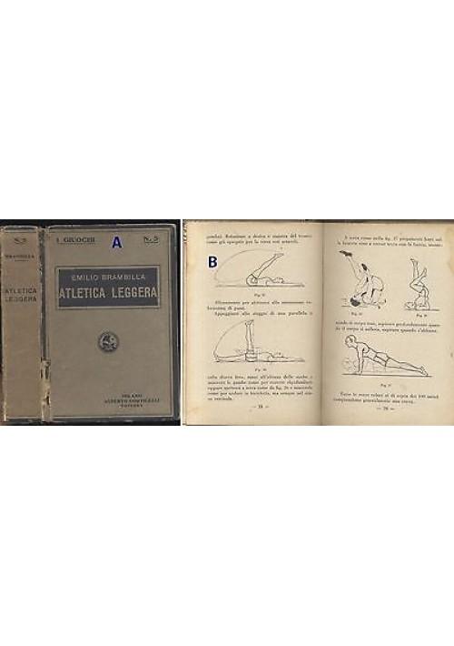 ATLETICA LEGGERA di Emilio Brambilla - 1929 Corticelli RARO! - corse salti lanci