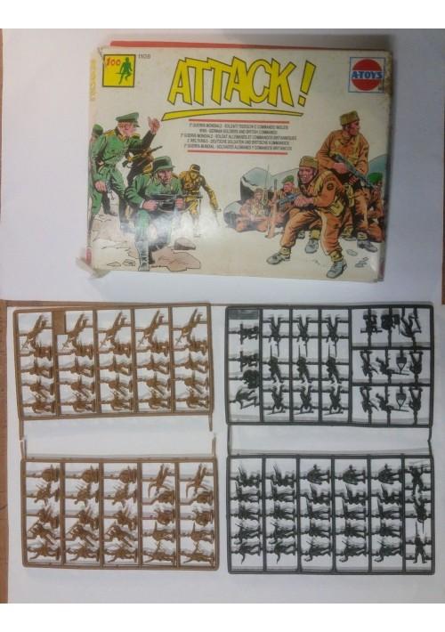 ATTACK A-TOYS confezione 100 soldatini commando inglesi soldati tedeschi