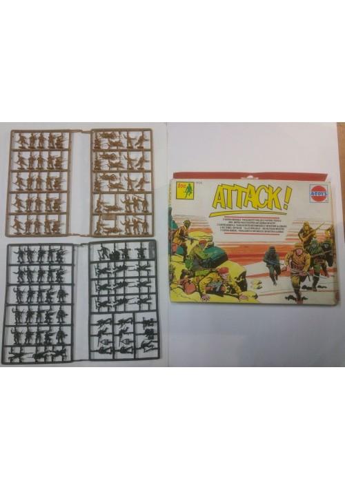 ATTACK A-TOYS confezione 100 soldatini paracadutisti inglesi fanteria tedesca