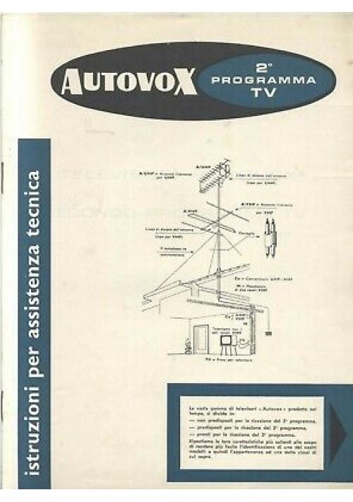 AUTOVOX 2° programma tv  istruzioni assistenza tecnica