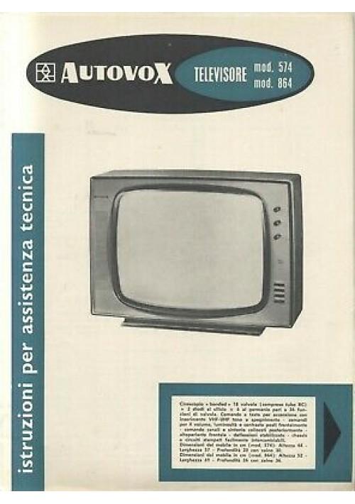 AUTOVOX televisori 574 864 istruzioni assistenza tecnica schemi circuiti stampat