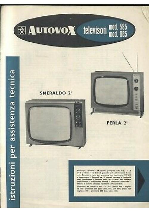 AUTOVOX televisori 585 885 istruzioni assistenza tecnica schemi circuiti stampat