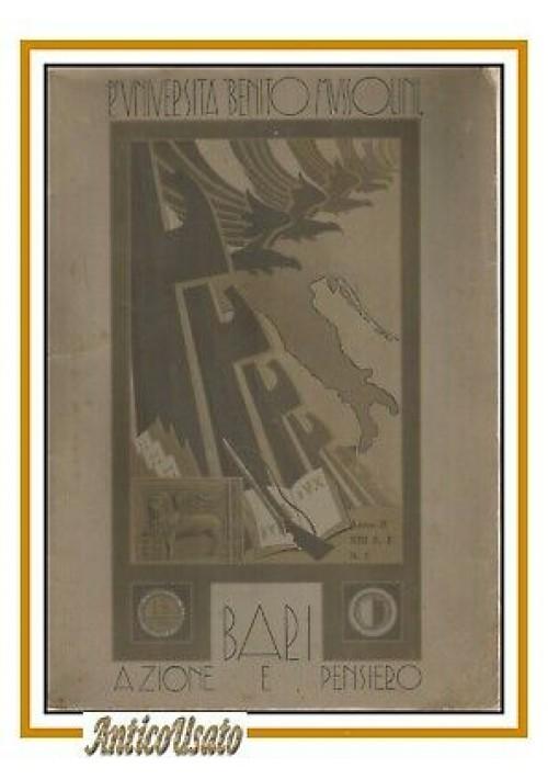 AZIONE E PENSIERO rivista della regia università Mussolini di Bari 1935 fascismo