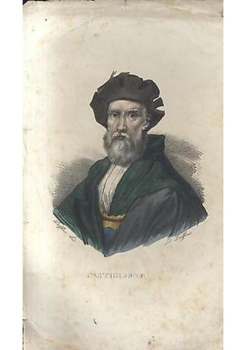 BALDASSARRE CASTIGLIONE litografia DOLFINO acquerello metà 800 ORIGINALE