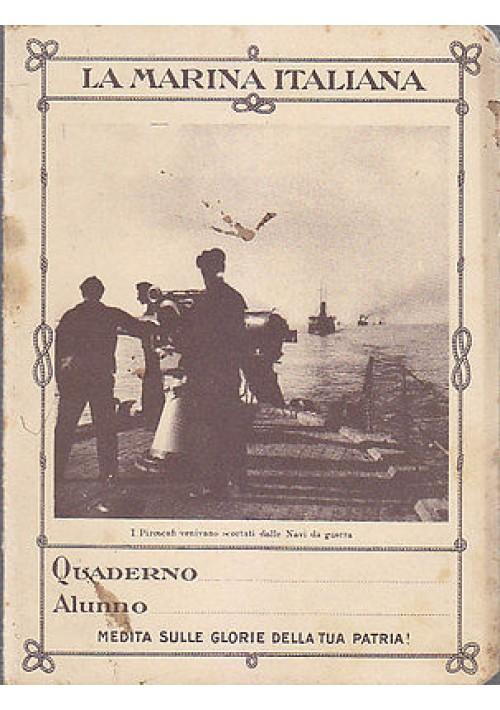 BEL QUADERNO LA MARINA ITALIANA la difesa del traffico marittimo - fascismo