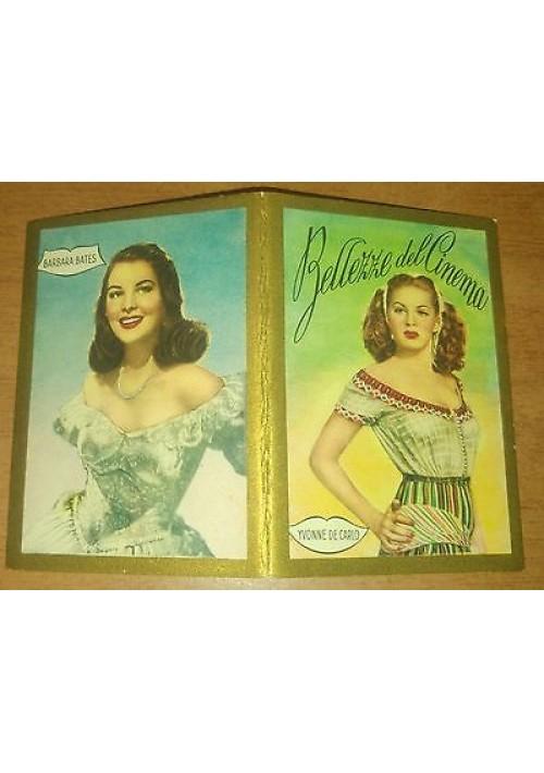 BELLEZZE AL CINEMA calendarietto da barbiere 1951 Yvonne De Carlo Barbara Bates