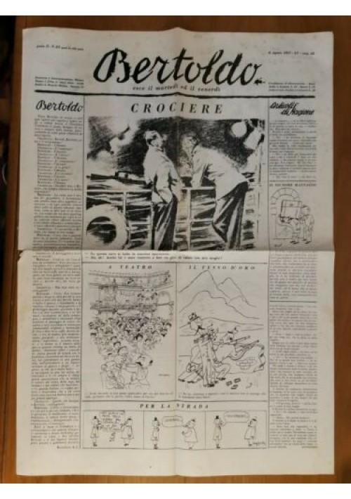 BERTOLDO giornale umoristico anno II numero 63 - 6 agosto 1937 fascismo rivista