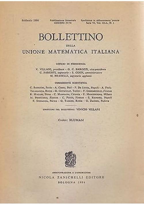 BOLLETTINO DELLA UNIONE MATEMATICA ITALIANA  FEBBRAIO 1984  Nicola Zanichelli
