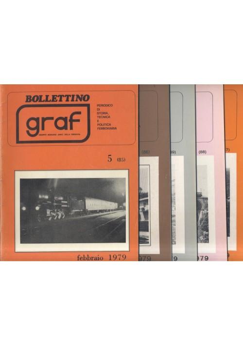 BOLLETTINO GRAF 1979 dal 5 al 9 (feb-dic) storia ferroviaria locomotive treni