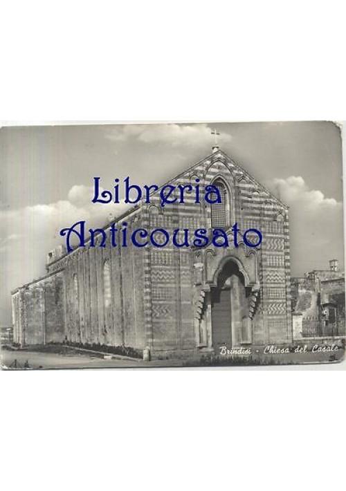BRINDISI CHIESA DEL CASALE CARTOLINA VIAGGIATA (?) ediz. cartolibraria 1960