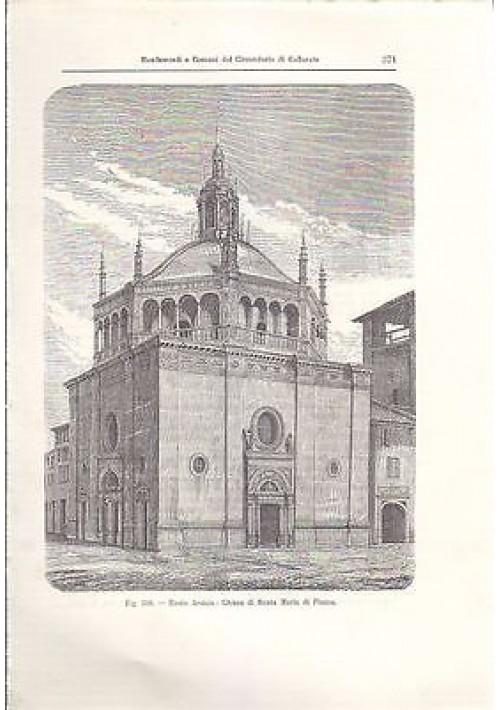 BUSTO ARSIZIO CHIESA DI SANTA MARIA DI PIAZZA  incisione originale 1902