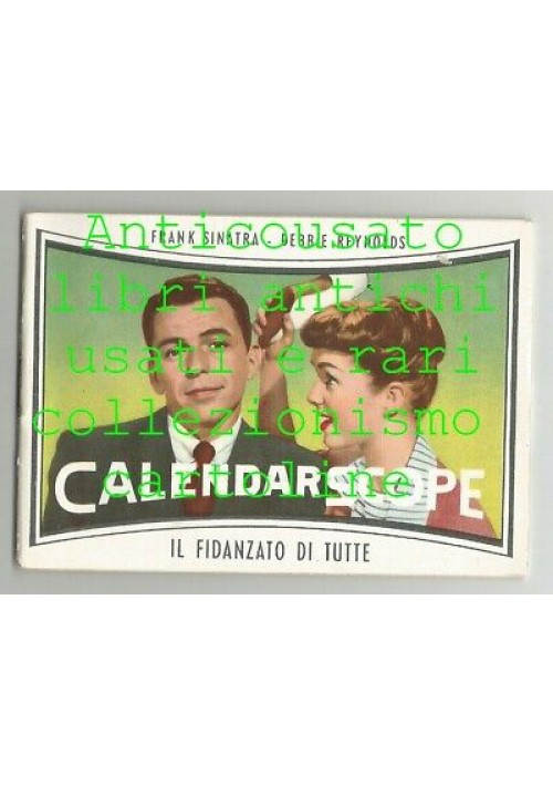CALENDARSCOPE calendarietto da barbiere 1958 Marylin Monroe Frank Sinatra