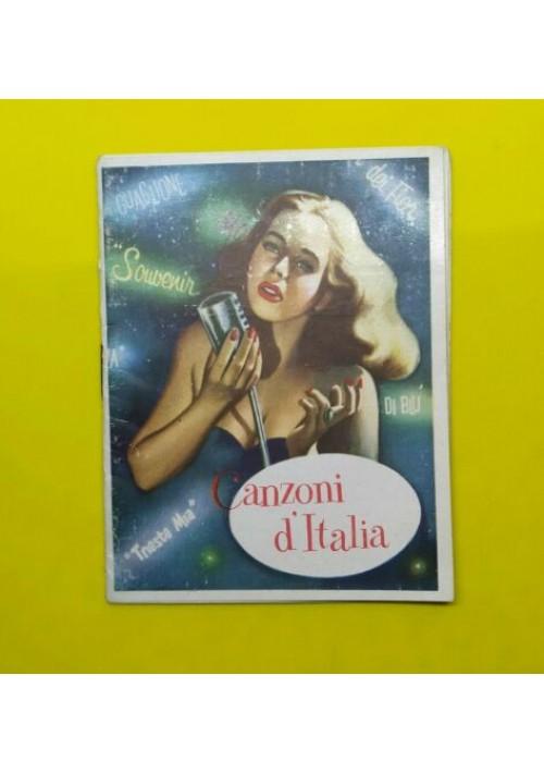 CANZONI D'ITALIA calendarietto da barbiere 1960 arrivederci Roma - Trieste mia